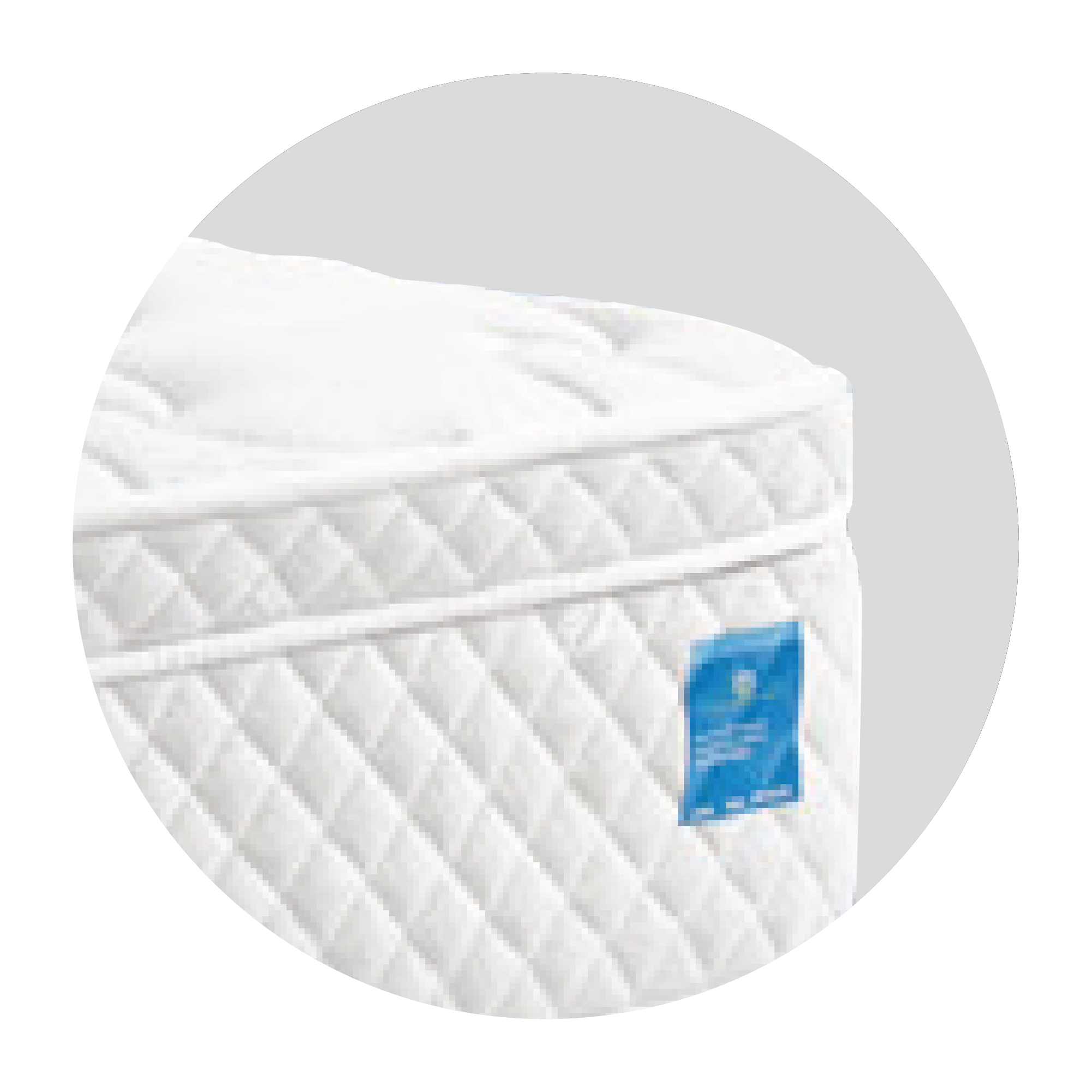 The additional upper layers at the very top of the mattress, providing additional contouring comfort relief and better motion absorption to promote a more restful night for the guests.