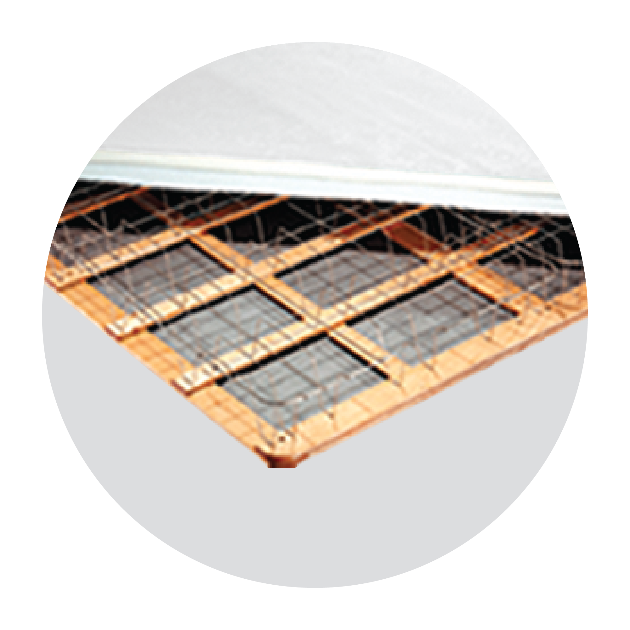A series of U-shaped supports are welded to the springs' border wire and cross-support grid, then secured at the wooden (made of durable Pine) base. Providing you with comfortable, even support for your Serta® mattress.