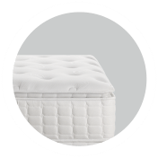 Additional layers at the very top of the mattress, providing more contouring comfort, relief and better motion absorption for a more restful night.